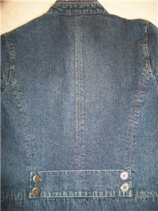 WOMEN SONOMA BLUE JEAN JACKET S SMALL M MEDIUM