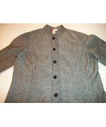 WOMEN JENNIFER MOORE BLACK CAREER SHIRT TOP SIZE 14 - $7.50