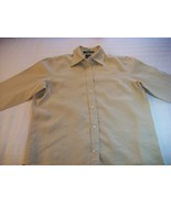 WOMEN RALPH LAUREN TAN CAREER SHIRT TOP M MEDIUM SMALL - $7.99