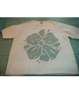 WOMEN CYNTHIA TAYLOR WHITE SWEATER 1X PLUS SHORT SLEEVE - $5.00