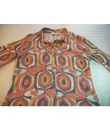 WOMEN GLORIA LANCE MULTI COLOR CAREER SHIRT TOP 3X PLUS - $8.99