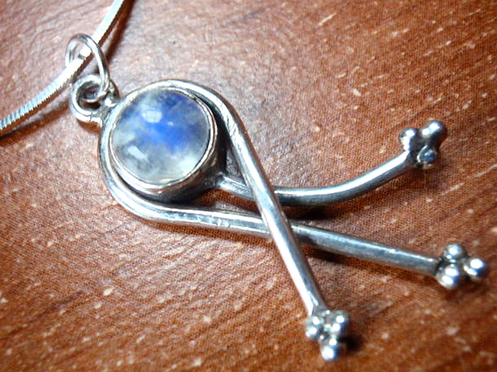 Primary image for Blue Moonstone 925 Sterling Silver Necklace Corona Sun Jewelry