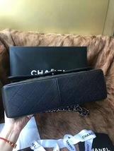 Authentic NEW Chanel Black Jumbo Caviar Double Flap Bag Silver Hardware Receipt image 6