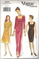 New 1990s Evening Gown Vogue 9365 Bust 30 32 Special Occasion Dress Pattern  Vogue Patterns