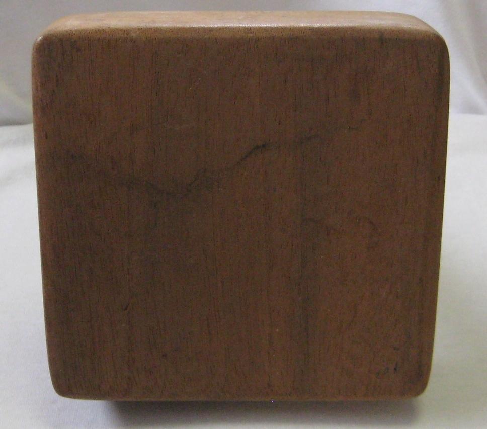 Antique Vintage Treenware Wood Butter Mold Press Block No Design