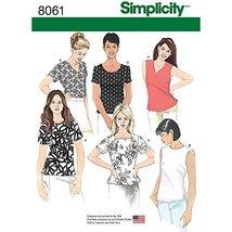 Simplicity Patterns Misses' Tops Size: U5 (16-18-20-22-24), 8061 - $13.48