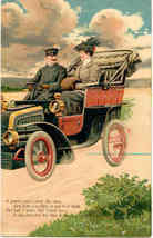 Driving  My Lady Paul Finkenrath of Berlin 1908 Post Card - $7.00