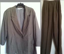 ANNE KLEIN II complete pant suit blazer jacket '80s vintage 100% SILK, X... - $27.99