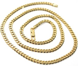 MASSIVE 18K GOLD GOURMETTE CUBAN CURB CHAIN 3.5 MM 18 IN. NECKLACE MADE IN ITALY image 1