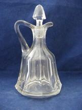 Vintage Vinegar Cruet 8 Sided - $9.95