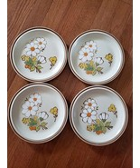 """Floral Expressions Stoneware - Summertime - 4 x Salad/Dessert Plate 7.75"""" - $29.99"""