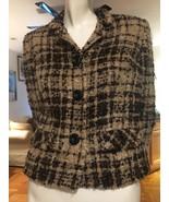 Vintage Davidow Jacket Scottish Mohair Tweed 2 Petite Brown Plaid USA 1960s - $24.75