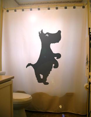 Dog scottish terrier shower curtain  55