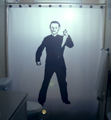 Killer psycho shower curtain 2  75