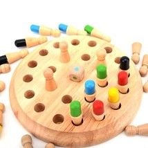 Kids Wooden Memory Match Stick Chess Game Children Early Educational 3D ... - $29.11