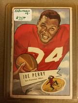 1952 Bowman Small #83 Joe Perry : San Francisco 49ers - $50.30