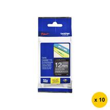Brother TZe-PR935 12mm Glitter Tape Cassettes (10pcs)-White on Premium Silver - $185.99