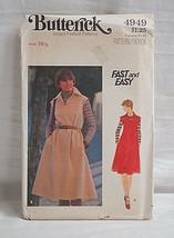 Butterick 4949 Sewing Pattern Size 16-1/2 Half Size Dress & Belt Fast & Easy NOS - $6.92