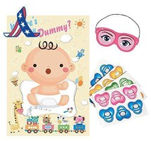 Adjoy Baby Shower Party Favors And Game - Pin The Dummy On The Baby Game - £7.89 GBP+