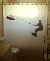 Water Ski SHOWER CURTAIN Wakeboard Waterskiing Skiing - $85.00