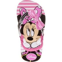 Disney Minnie Mouse Toddler Girls Beach Flip Flops Sandals Sizes 9-10 ,1... - $9.79