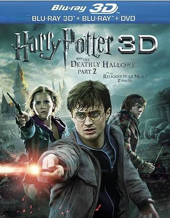 Harry Potter and the Deathly Hallows, Part 2 3D (Blu-ray 3D, Blu-ray, DVD)