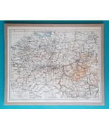"BELGIUM - 1905 PHYSICAL MAP incl. Railways Roads 10 x 12.5""  (25 x 31.5 cm) - $23.40"