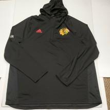 NWOT Chicago Blackhawks Adidas Climalite Hoodie Lightweight Sweatshirt 2... - $37.61