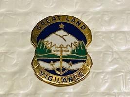 US Military Alaska National Guard Insignia Pin - Vigilance - $10.00