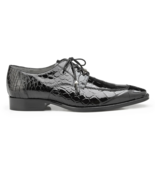 Men's Shoes  Belvedere Lorenzo Split-toed Alligator Derby Black B01 - £643.03 GBP