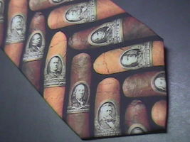 Ralph Marlin Neck Tie Cigar Money Band 1997 Cigar Bands on Black Background - $9.99
