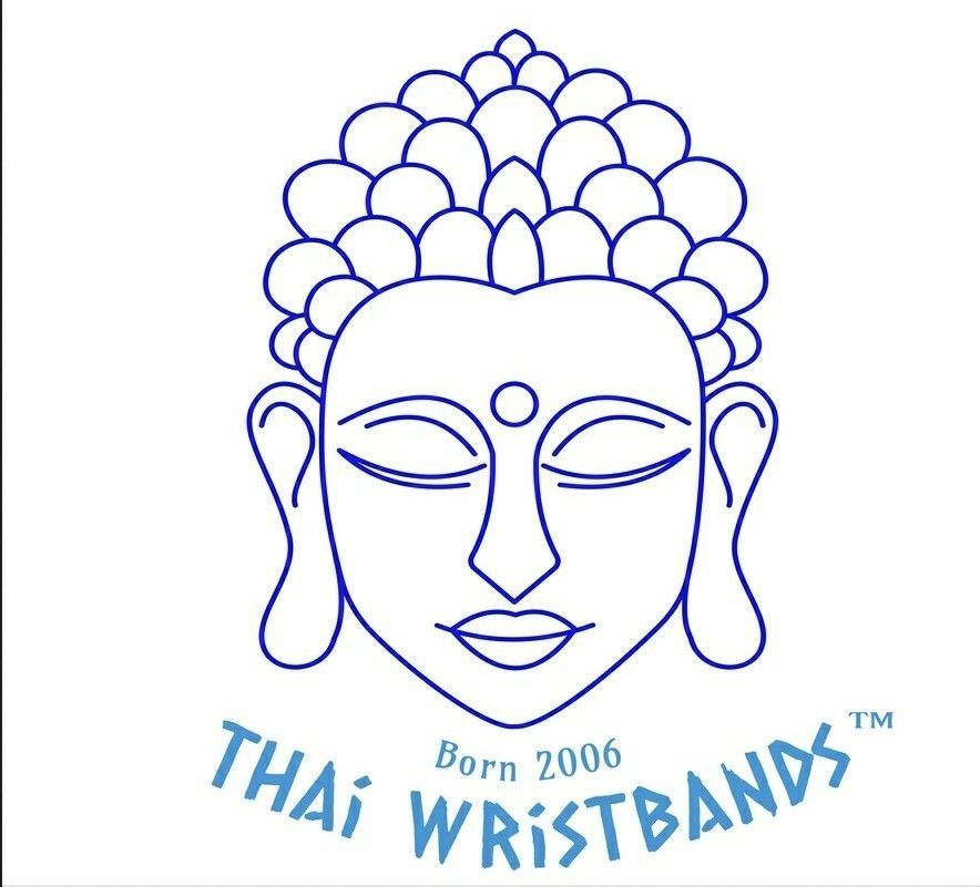 Black Braided Weave Thai Buddhist Mens Cotton Wristband Handcrafted Wristwear