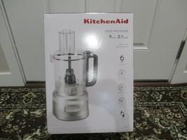 BNIB KitchenAid 9 Cup Food Processor KFP0919CU, Contour Silver - $163.35