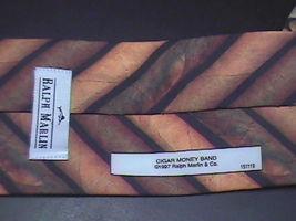 Ralph Marlin Neck Tie Cigar Money Band 1997 Cigar Bands on Black Background image 3