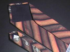 Ralph Marlin Neck Tie Cigar Money Band 1997 Cigar Bands on Black Background image 4