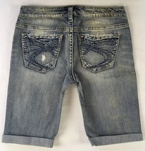 New SILVER Jeans Sale Cheap Buckle Mid Rise Aiko Denim Jean Stretch Shor... - $19.97