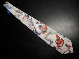 Ralph Marlin Neck Tie Cleveland Indians 1991 Chief Wahoo and Players on ... - $9.99