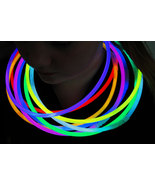 DirectGlow 50ct 8 Color Assorted 22 inch Glow Necklaces Preattached Conn... - $27.95