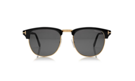 Tom Ford Henry Sunglasses Black/Gold 56-2-145 - $449.95