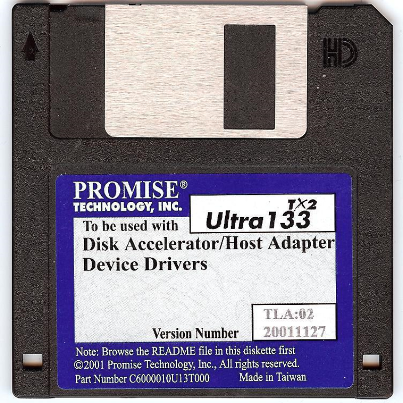 Promise Technology Legacy Device Driver Diskette Ultra 133 T2,  ide drive