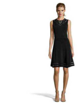 New Cynthia Steffe Darcey Embroidered Dress Fit & Flare Ponte Kit Black ... - $34.99