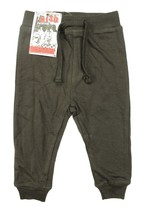 NEW LITTLE KIDS TODDLER MISH BOYS TERRY BROWN SWEAT PANTS 18M - $9.89