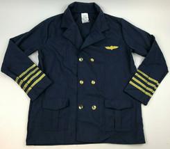 FORUM Pilot's UNIFORM Costume JACKET Men's NAVY Blue GOLD Standard Size ... - $19.80