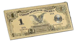 """2X GEM>1899 """"GOLD""""$1 SILVER CERTIFICATE BLACK EAGLE Rep.*Banknote ~STUNNING - $19.00"""