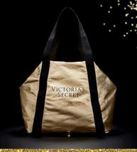 "Victoria's Secret Shimmering Gold Packable ""It"" Bag NWT!! $58 - $39.50"