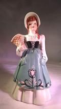 Antique Florence Ceramics Dutch Girl Suzette Figurine Flower Holder Vase - $140.00
