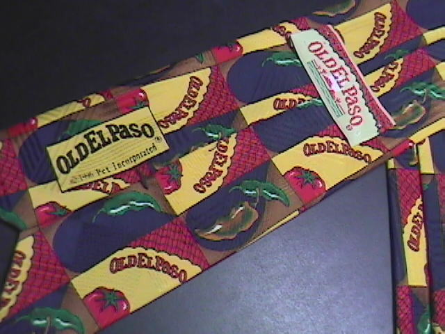 Old El Paso Pet Corp Neck Tie Mexican Food