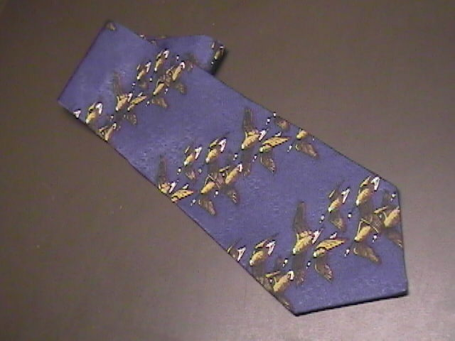 Field and Stream Neck Tie Blues and Browns Silk Unworn with Retail Tag