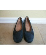 "Clarks Artisan Blue and Black Suede Loafers With 1.5"" Heel Women Sz 8 M ... - $18.99"