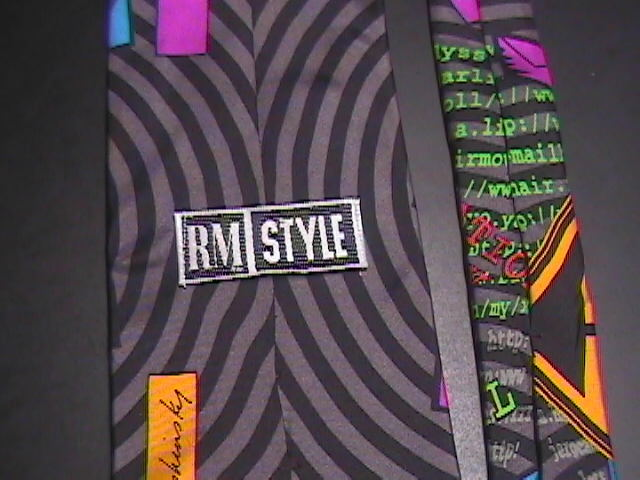 Ralph Marlin RM Style Neck Tie Internet 1996